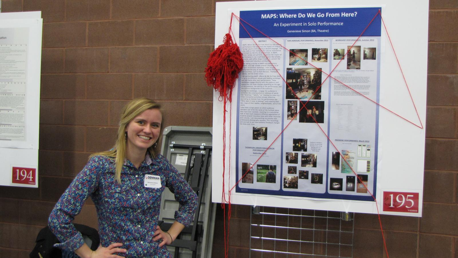 Genevieve Simon at the Denman Undergraduate Research Forum.